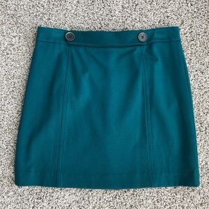 Turquoise above the knee skirt